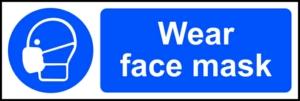 Wear face mask - RPVC (300 x 100mm)