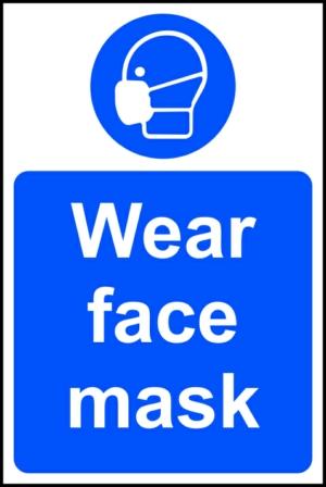 Wear face mask - RPVC (200 x 300mm)