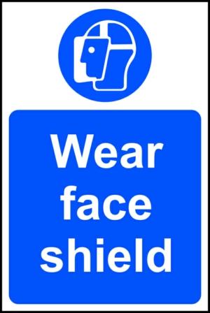 Wear face shield - RPVC (200 x 300mm)