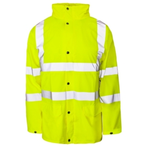 Hi Vis Storm-Flex PU Jacket Yellow