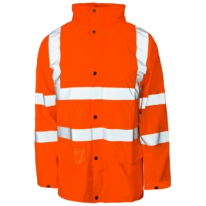 Hi Vis Storm-Flex PU Jacket Orange