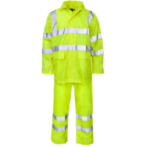 Hi Vis 2 Piece Rainsuit Yellow