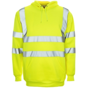 Hi Vis Hooded Sweatshirt Yellow