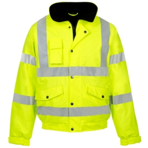 Hi Vis Storm-Flex PU Bomber Jacket Yellow