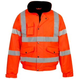 Hi Vis Storm-Flex PU Bomber Jacket Orange