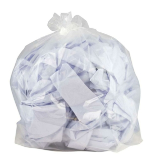 100 Heavy Duty Clear Refuse Sacks - Bin Bags