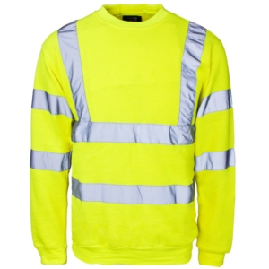 Hi Vis Crew Neck Sweatshirt Yellow