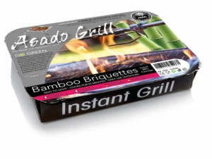 Asado Grill Instant Barbecue Bamboo Briquettes x6 Pack