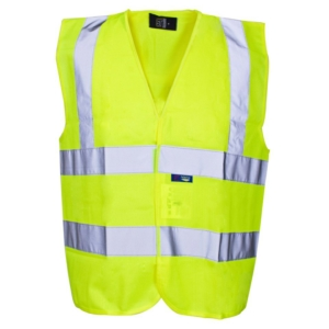 Yellow Velcro Hi Vis Builders Vest