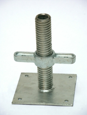 AB9 Base Jack - 6 Tonne Capacity - Zinc Plated 310mm