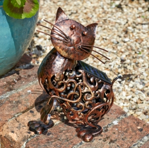Metal Silhouette Cat Garden Light-Copy