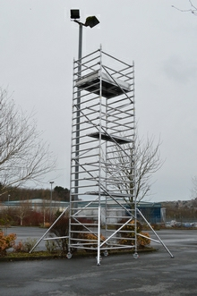 HiLyte 250 Industrial Aluminium Scaffold Tower, Double Width (1.45m), 2.5m Length