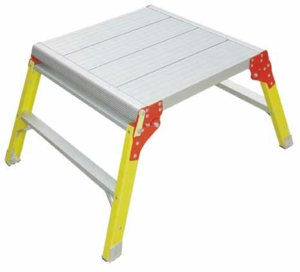 Lyte Ladders Glassfibre Square Low Level Work Platform 600mm