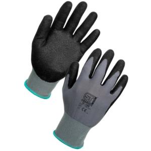 Graphite Handling Gloves, Nitrile Coated, Pack of 12