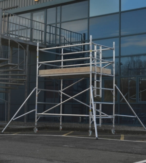 HiLyte 500 Industrial Aluminium Scaffold Tower, Double Width (1.45m), 2.5m Length