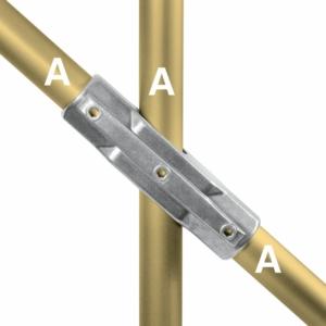 Aluminium Adjustable Cross 30-45 Degree (48.3mm) - Kee Lite (L30-8)