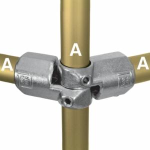 Aluminium Corner Swivel Combination (48.3mm) - Kee Lite (L19-8)