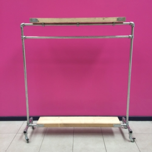 Scaffolding Clothes Rail Kit with double Timber Shelf - 170cm x 160cm