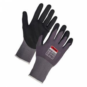Graphite Scaffolding  Gloves, Nitrile Coated - Pack of 12 in Large-Copy