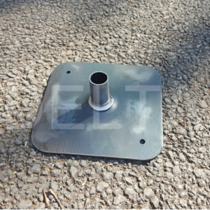 Spigot Base Plates - 150x150x3mm Self Colour