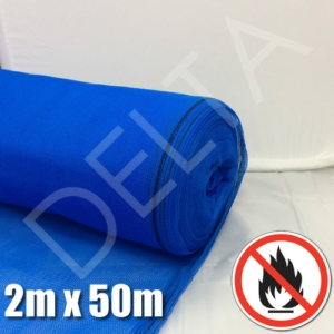 Fire Retardant Debris Netting - 2m x 50m Blue