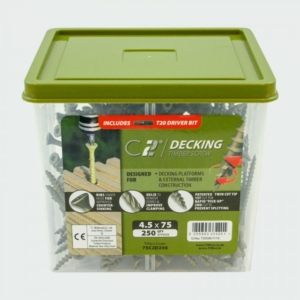 C2 Decking Screw TX20 CSK - Green 4.5 X 65 (Tub of 250)