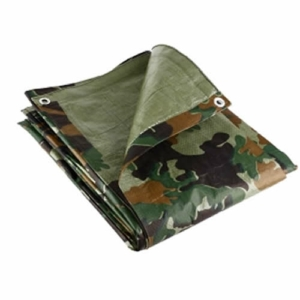 Camouflage Tarpaulin, 2.7m x 3.5m, Lightweight 80GSM