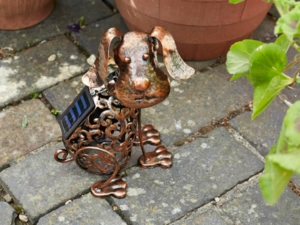 Metal Silhouette Dog Garden Light
