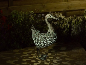 Metal Silhouette Duck Garden Light