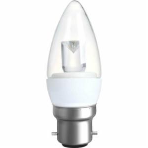 CANDLE OPAL 4W (20W) BC (B22) 200 Lumens Warm White LED Light Bulb
