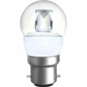 GOLF BALL CLEAR 4W (20W) BC (B22) 200 Lumens Warm White LED Light Bulb