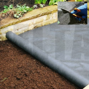 Non-Woven Heavy Duty Landscape Fabric - 1.8m X 25m 100GSM