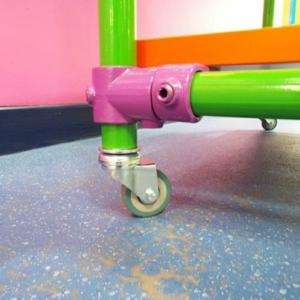Unbraked Swivel Castor & Expander For 26.9mm Tube