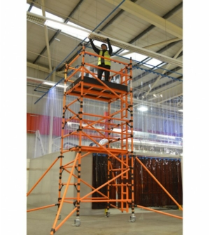 HiLyte Leader 500 GRP Scaffold Tower, Single Width (0.85m), 2.5m Length