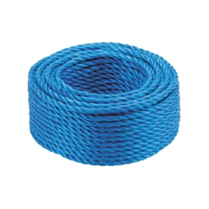 50m Coil of Scaffolding Rope, 18mm Polypropylene, Certificated.