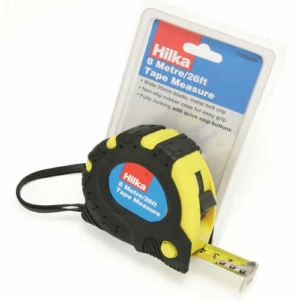 Hilka 8m (26ft) Heavy Duty Retractable Tape Measure