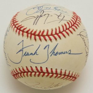 1995 MLB All-Star Game Multi-Signed Ball w/Ozzie, McGwire, Molitor, Winfield