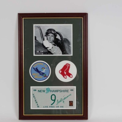Boston Red Sox Ted Williams Signed Veteran License Plate