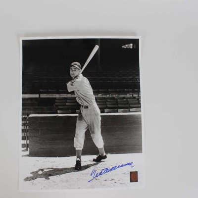 1939 Boston Red Sox Ted Williams Signed Rookie Posed Swing Photo - COA