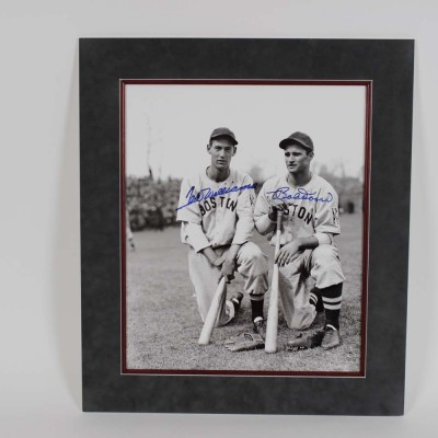 Boston Red Sox - Ted Williams & Bobby Doerr Signed 16x20 Photo - COA