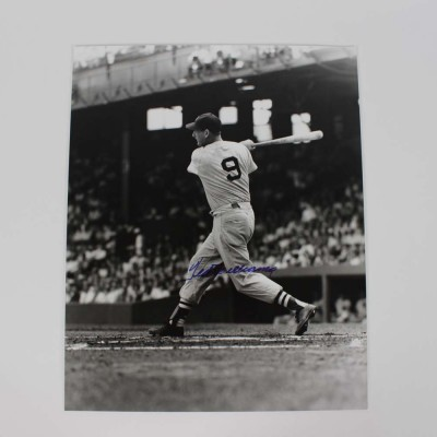 Boston Red Sox Ted Williams Signed 16x20 Vintage Photo - COA