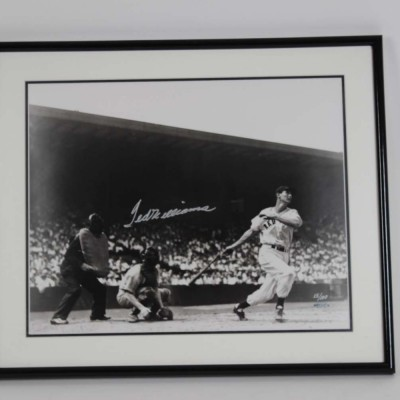 Boston Red Sox- Ted Williams Signed LE #15/100 21x25 Photo Display - COA UDA