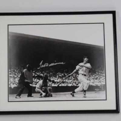 Boston Red Sox- Ted Williams Signed LE #15/100 21x25 Photo Display - COA UDA