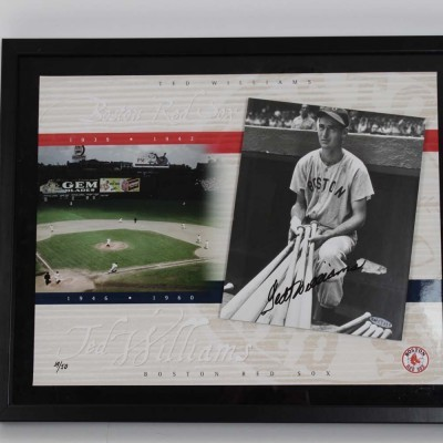 Boston Red Sox Ted Williams 8x10 Photograph Limited Edition COA Upper Deck