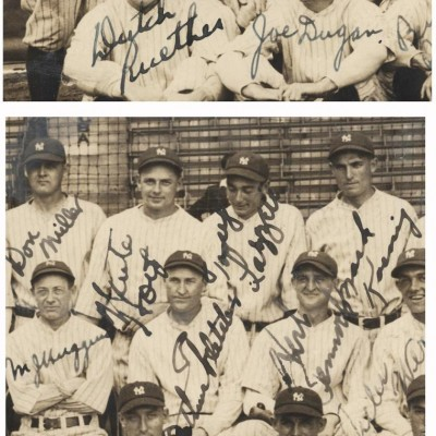 1927 New York Yankees Original Photo Signed by Entire Team - Ruth, Gehrig (Graded PSA 8) (Copy)