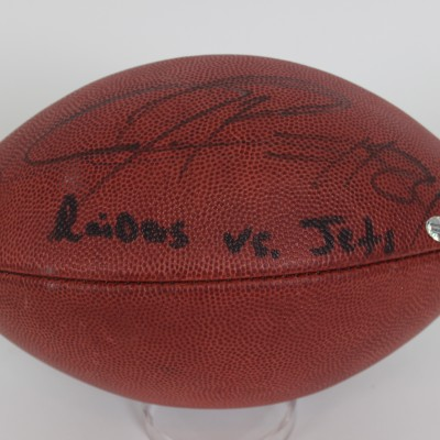 Raiders Jerry Porter Signed & Game Used Football