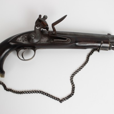 1819 British Antique Flintlock Pistol VR British Crown