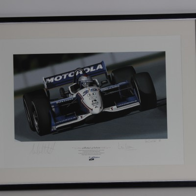 Michael Andretti, Max Papis, Bill Elliot Motorola Racing Print LE 498/500 Display 25 x32