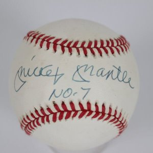 Mickey Mantle No. 7 Signed Baseball - JSA FULL LOA