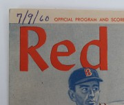 Sep 24, 1960  Ted Williams Last Game  & HR Program & Score Card & One Signed Program